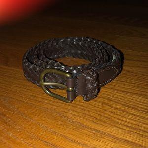 Lands' End Kids Leather Braided Belt Size 14-16